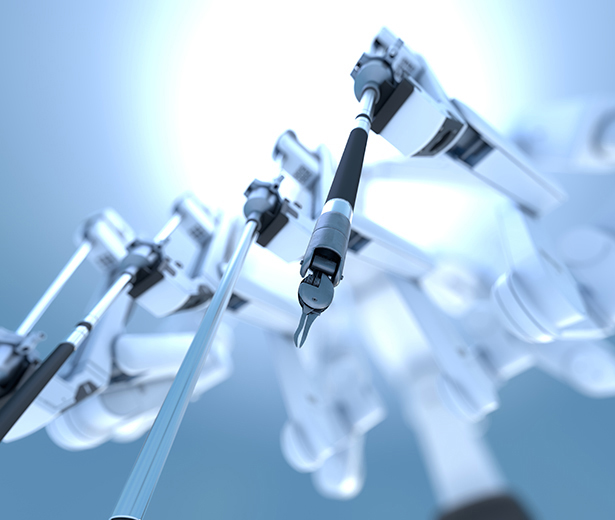 robotic arms of a robotic surgery system